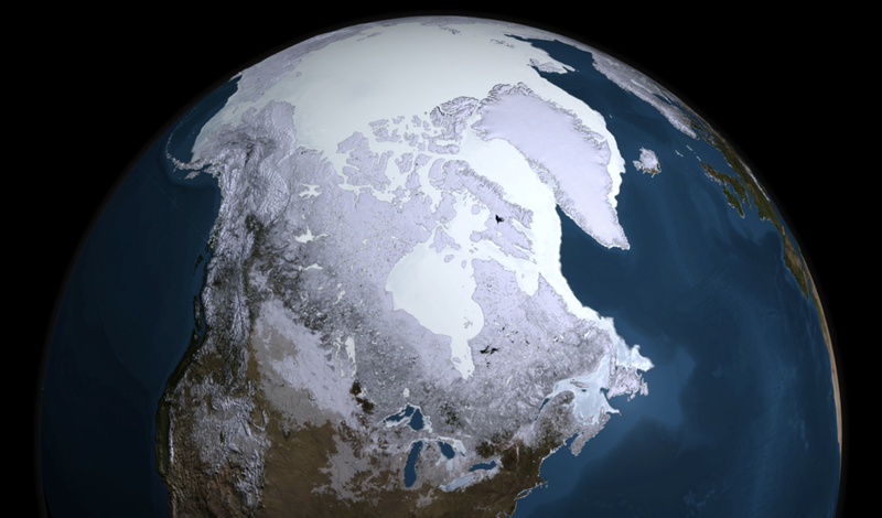 How North America would have looked during the last Ice Age.