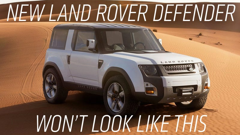 Illustration for article titled Report: New Land Rover Defender Design Is Done, Looks Nothing Like DC100