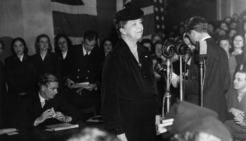 Illustration for article titled Eleanor Roosevelt Ranks First Among First Ladies