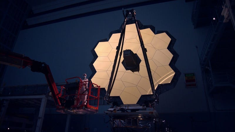 James Webb Space Telescope's mirrors.
