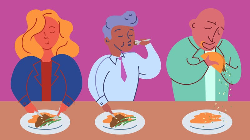 Illustration for article titled How do food TV hosts eat gracefully on camera?
