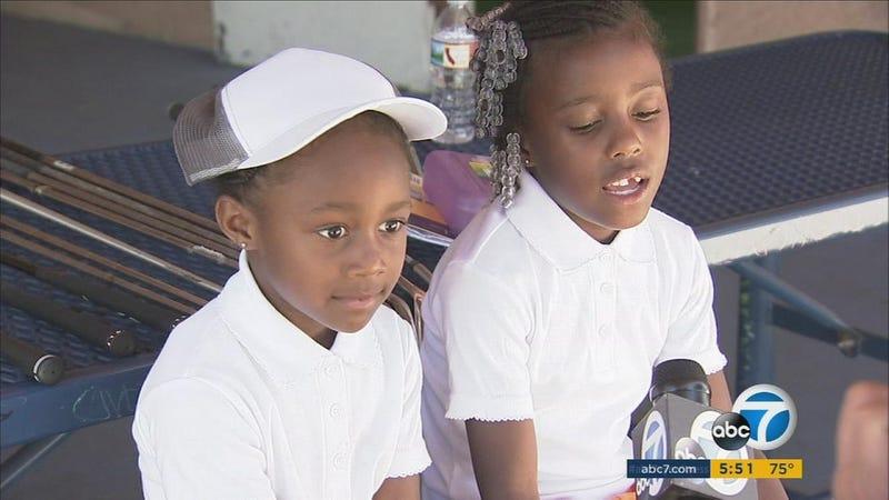Roxy and Layla Phillips (ABC 7 screenshot)