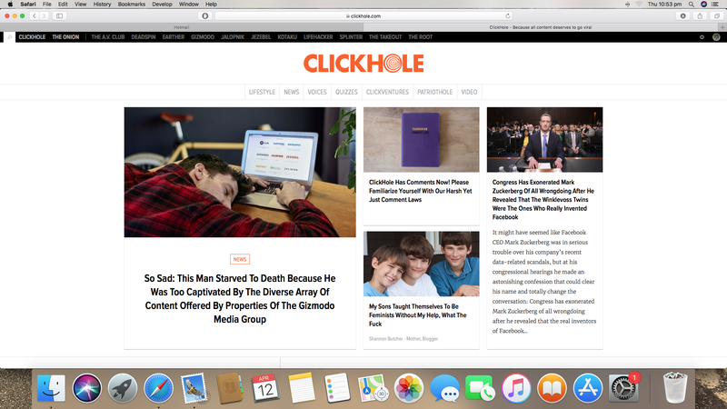 """Illustration for article titled what is """"clickhole""""?"""