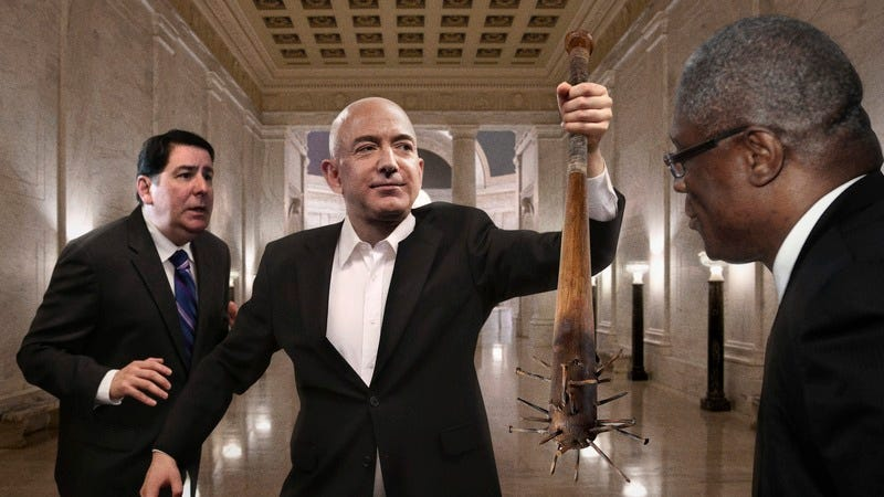 Jeff Bezos Just Tossed A Nail Studded Baseball Bat On The Floor