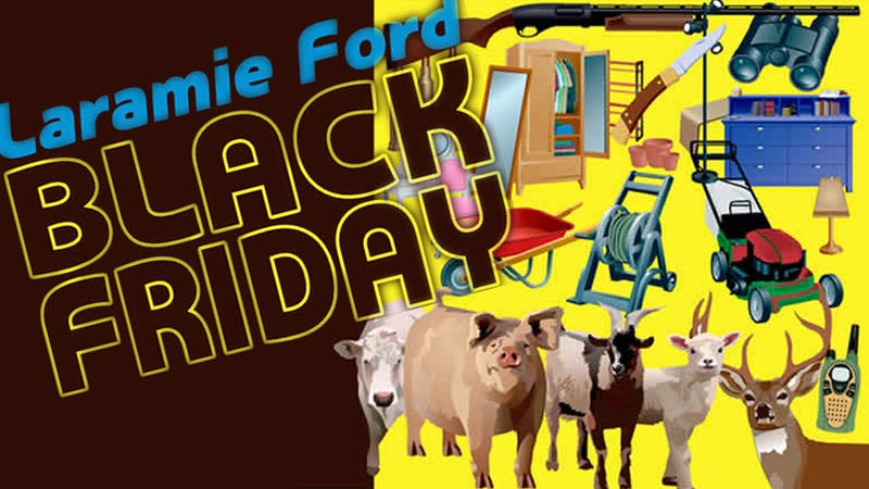 Illustration for article titled Trade Anything, Even Carpet Scraps, For A Ford This Black Friday!
