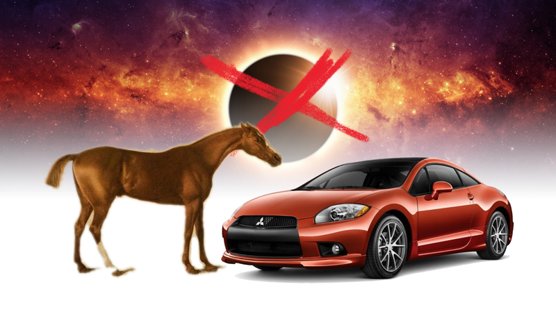 Illustration for article titled Holy Crap, The Mitsubishi Eclipse Was Named For A Horse, Not An Eclipse
