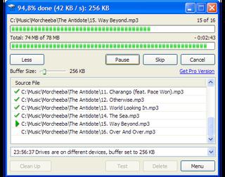 Windows copy utility resume