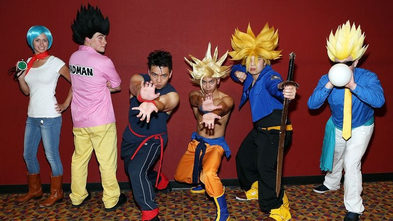 No, these aren't the guy, these are just some dorks. (Photo: Monica Schipper/Getty Images for Funimation Entertainment)