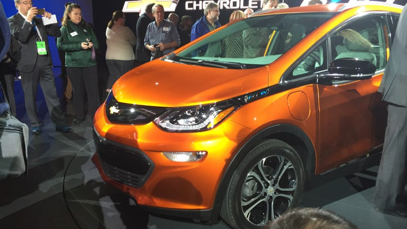 Illustration for article titled The 2017 Chevrolet Bolt EV Doesn't Look Terrible?