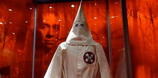 Ku Klux Klan robe on exhibit at the National Geographic Museum (Karin Zeitvogel/Getty Images)