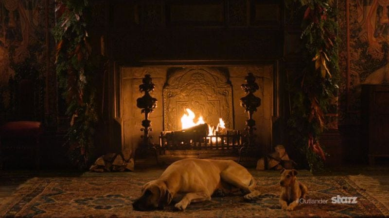 Illustration for article titled Get cozy with this Outlander-themed Yule log footage