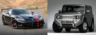Illustration for article titled Dodge Viper Or Ford Bronco? That Is The Blur Preorder Question