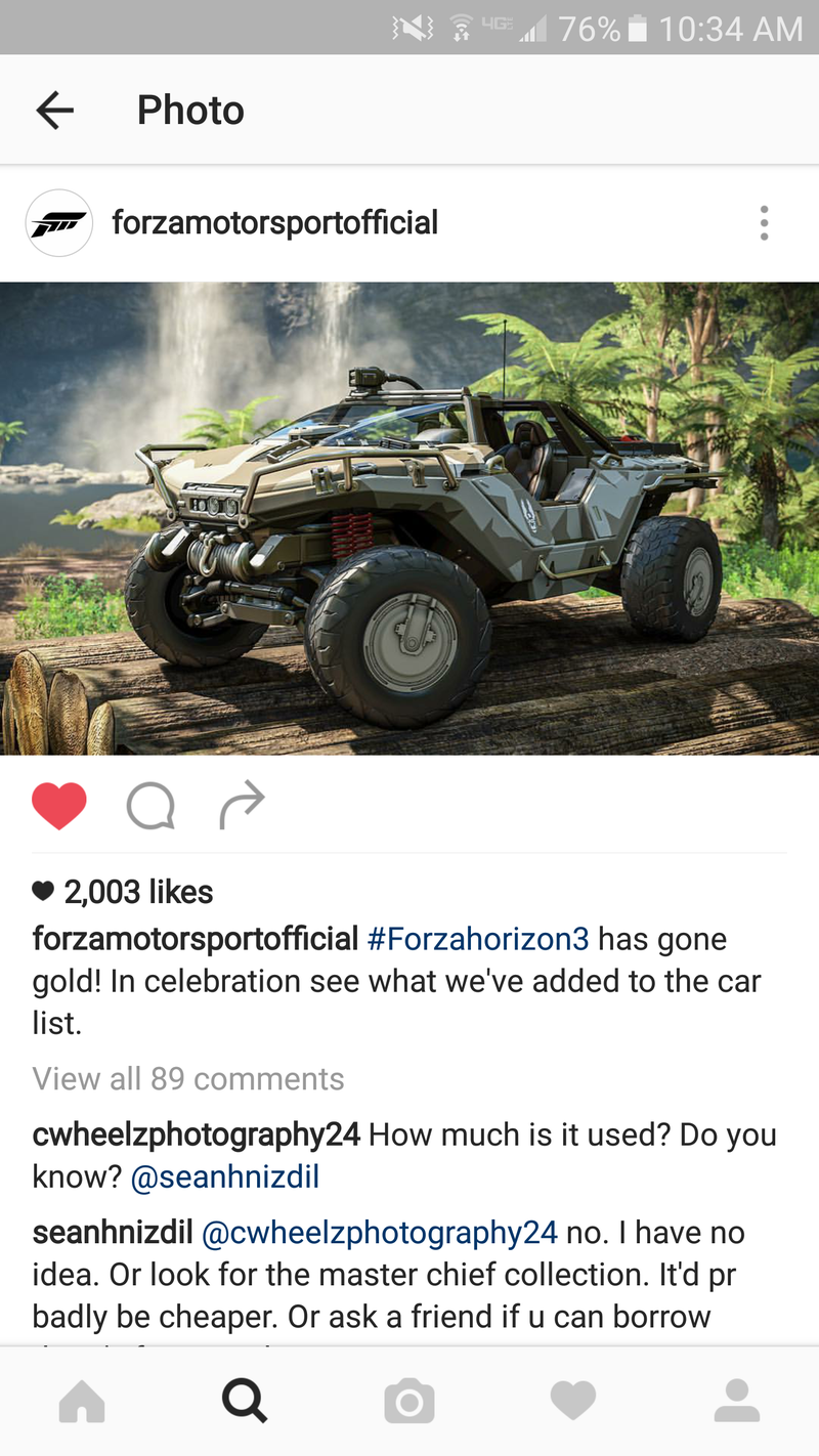 Illustration for article titled Warthog Confirmed For Forza Horizon 3!!!!!