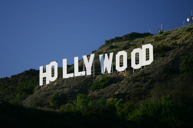 """The """"Hollywood"""" sign is seen in Los Angeles in 2005.  David McNew/Getty Images"""