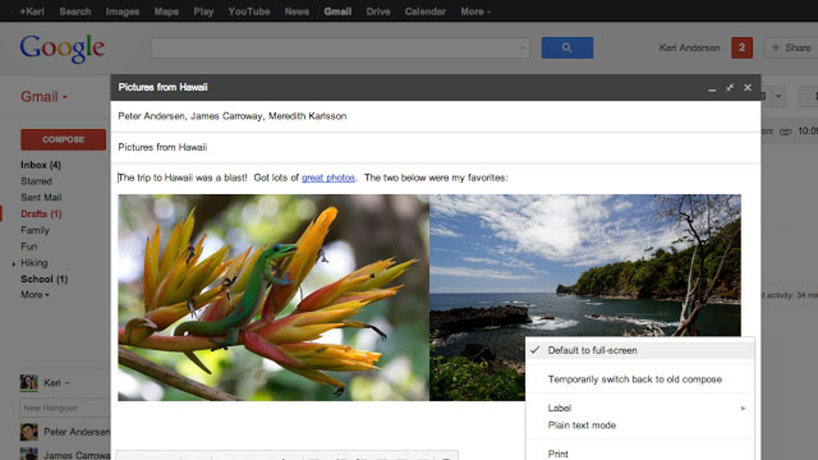 Gmail Finally Gets a Default Full-Screen Email Compose Window