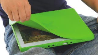 Illustration for article titled Here's What $100 Worth of Wondertablet Looks Like: OLPC XO 3.0 First Pictures