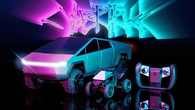The Only Drivable Tesla Cybertruck You Can Actually Buy Now Comes With a Matching Cyberquad ATV