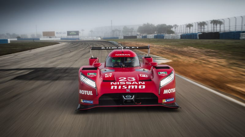 Illustration for article titled Carbon Damage Sends Nissan Le Mans Car Home From Sebring Test Early