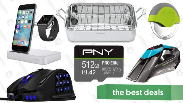 Saturday s Best Deals: Flash Storage, Tech Grab Bag, Pizza Wheel, and More