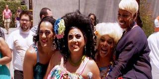 NeNe Leakes at a gay pride parade (Bravo.com)