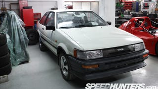 """Illustration for article titled This is what a """"brand new"""" 25 year old AE86 Toyota Corolla looks like"""