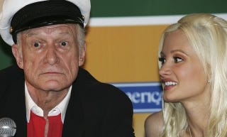 Illustration for article titled Hugh Hefner On Holly Madison: She's Just Trying To Get Attention