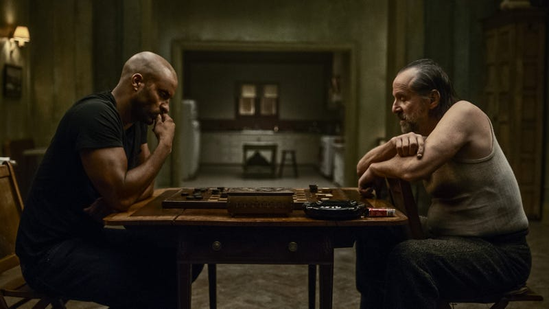 Shadow plays checkers against Czernobog. All images courtesy of Starz