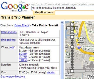 Illustration for article titled Google Transit adds Seattle, Pittsburgh and more cities