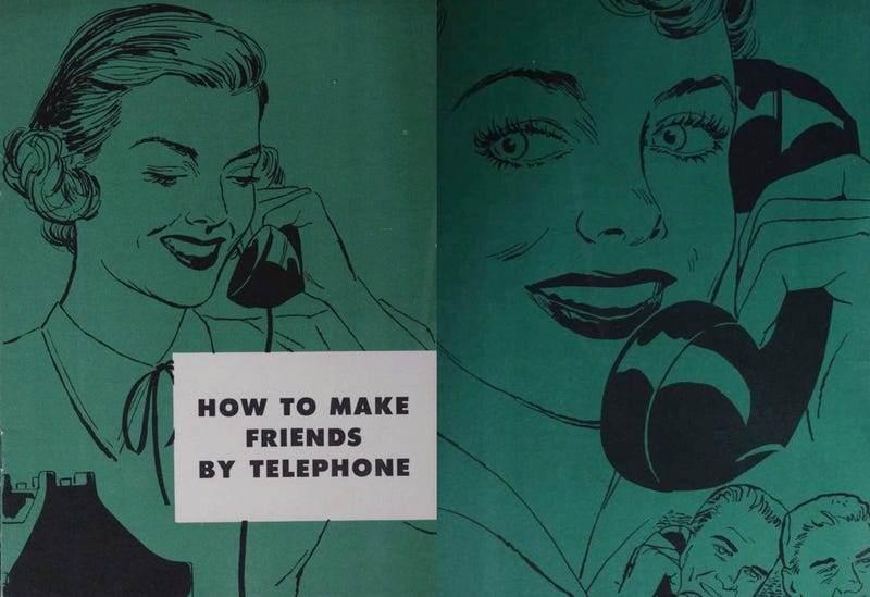 Illustration for article titled The 1950s Guide to Proper Telephone Etiquette