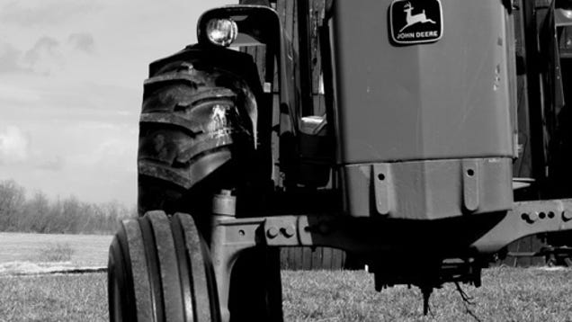 Even Black And White Photos Of John Deere Tractors Are Cool on green grumpies