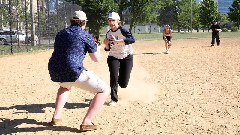 Sources say the Democratic presidential candidate popped up immediately after the collision and vigorously stomped on home plate while the catcher writhed in the dirt.