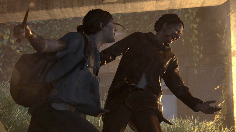 Ellie goes for the kill in The Last of Us Part II
