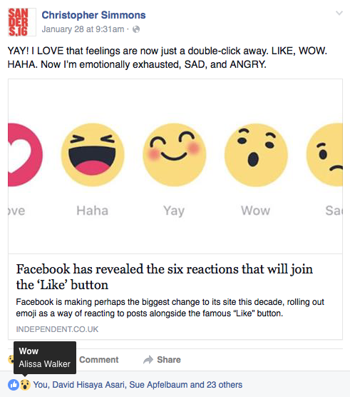 The Six Stages of Facebook Reaction Grief