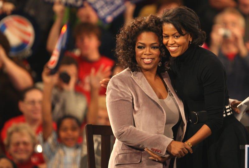 Michelle Obama and Oprah Winfrey in 2008 Scott Olson/Getty Images