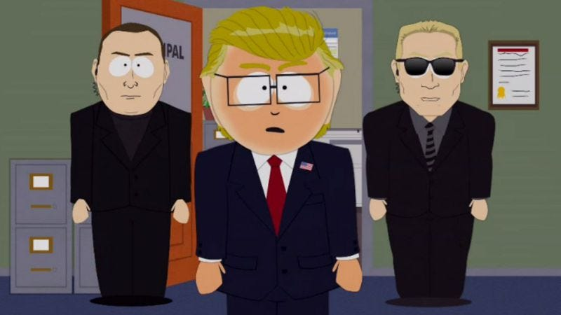 Illustration for article titled In the dawn of the Trump era, the satire on South Park writes itself