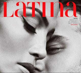 Illustration for article titled Jennifer Lopez and Ryan Guzman Get Lusty on Close-Up Latina Cover