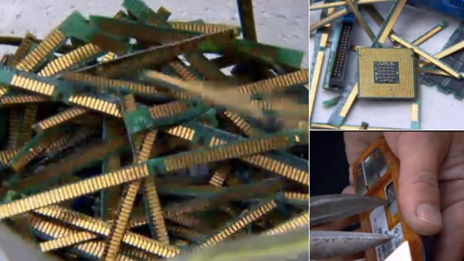 Heres How To Rip Apart A Computer And Melt The Circuit Boards For Scrap Gold Simple Recovery From Board Fingers So You Can Survive Next Financial Apocalypse