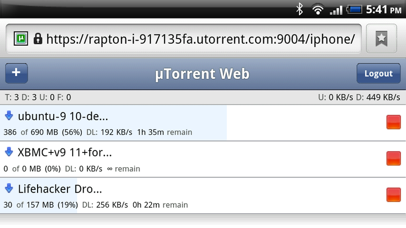 Illustration for article titled uTorrent 3.0 Alpha Adds Web Interface Support for iPad, Android