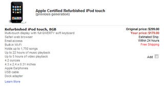Illustration for article titled Dealzmodo: Big Price Drops on Refurbed Previous Gen iPod Touches