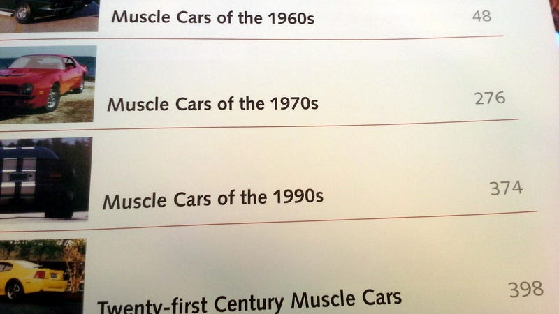 """Illustration for article titled Found an """"Illustrated Directory of Muscle Cars"""" at B&N"""