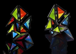 Illustration for article titled Origami Yourself A Colorful OLED Light