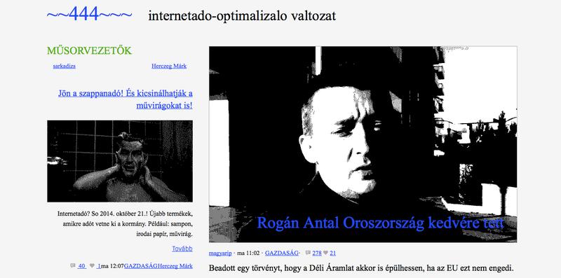 Illustration for article titled Internetadó-optimalizált 444-et csinált magából a 444