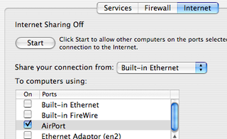 Illustration for article titled Share your Mac's internet connection wirelessly