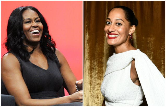 Michelle Obama and Tracee Ellis Ross