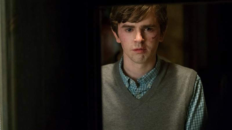 Freddie Highmore stars in Bates Motel (Photo: Cate Cameron/A&E)