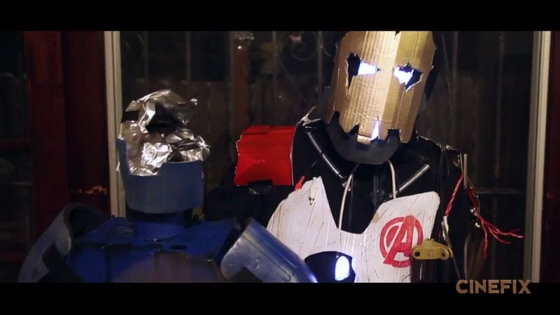 Illustration for article titled Homemade Avengers: Age Of Ultron trailer is impressive, full of cardboard