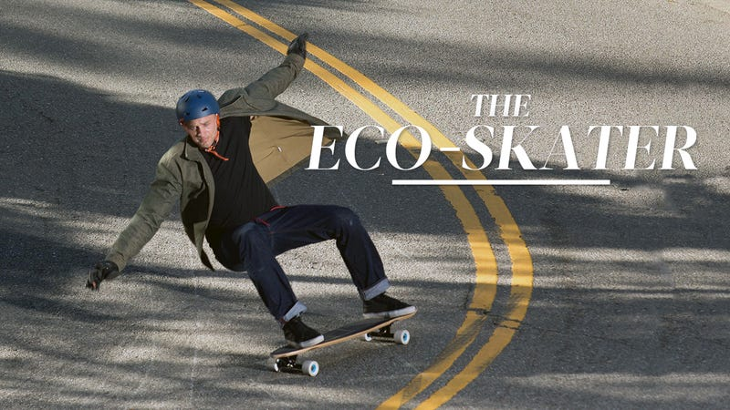 Illustration for article titled This Skateboarder Built the World's Greenest Deck