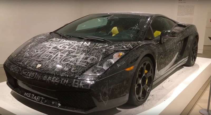 Art Lovers Take Out Their Simmering Wrath On An Innocent Lamborghini