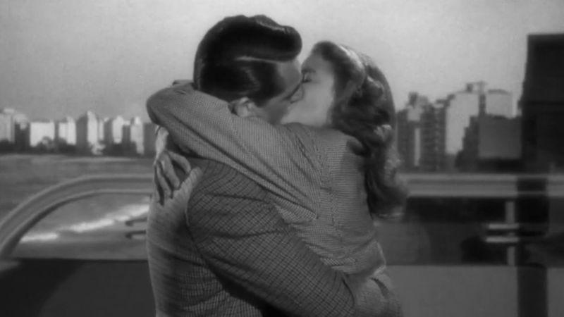 Illustration for article titled This supercut of kissing in films by Hitchcock definitely breaks Hays Code