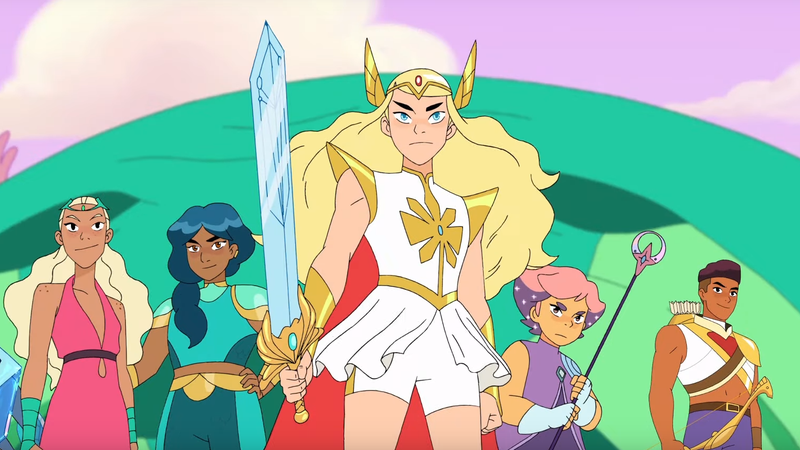 She-Ra and the heroes of the Princess Alliance.